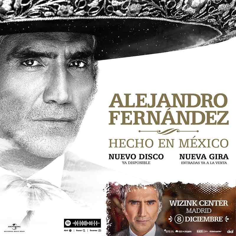 Alejandro Fernández, lanzamiento en Madrid y Barcelona